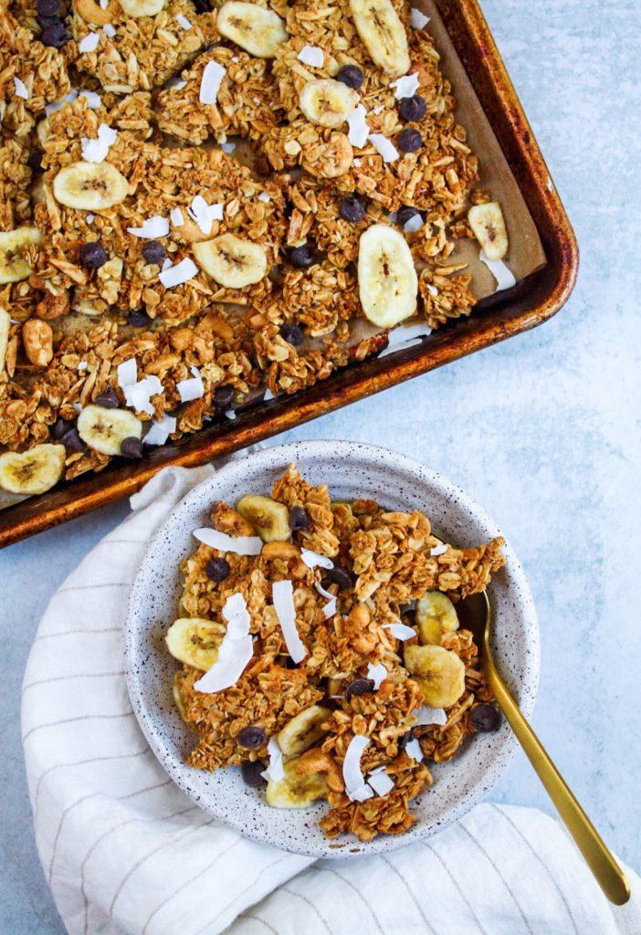 Coconut Almond Sunshine Granola - Healthy Pantry Staple Recipes - Daisybeet