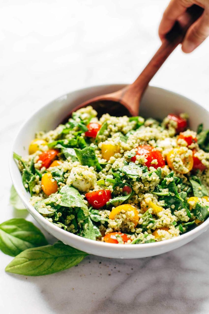 Green goddess quinoa salad - pinch of yum