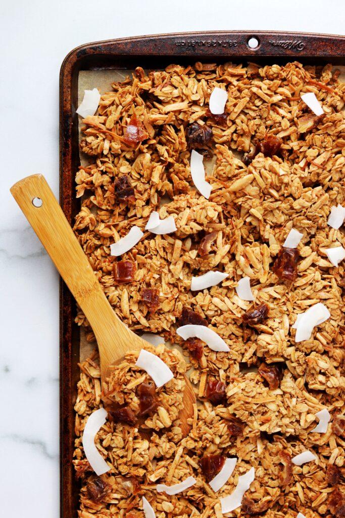 Coconut Chai Spiced Granola - Healthy Pantry Staple Recipes - Daisybeet