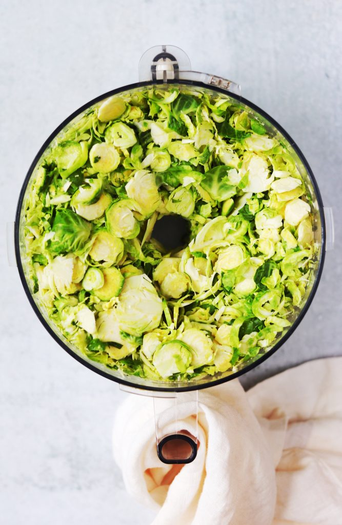 Shredded Brussels Sprouts in Food Processor - Daisybeet