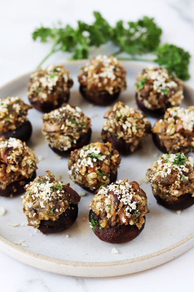 Healthy Vegetarian Stuffed Mushrooms - Daisybeet
