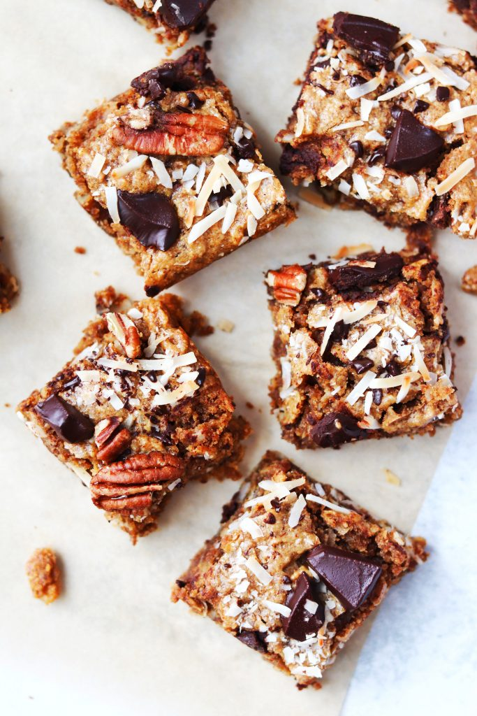 Healthy Almond Butter Magic Bars - 20 Amazing Vegan Cookie, Brownie, and Bar Recipes  - Daisybeet