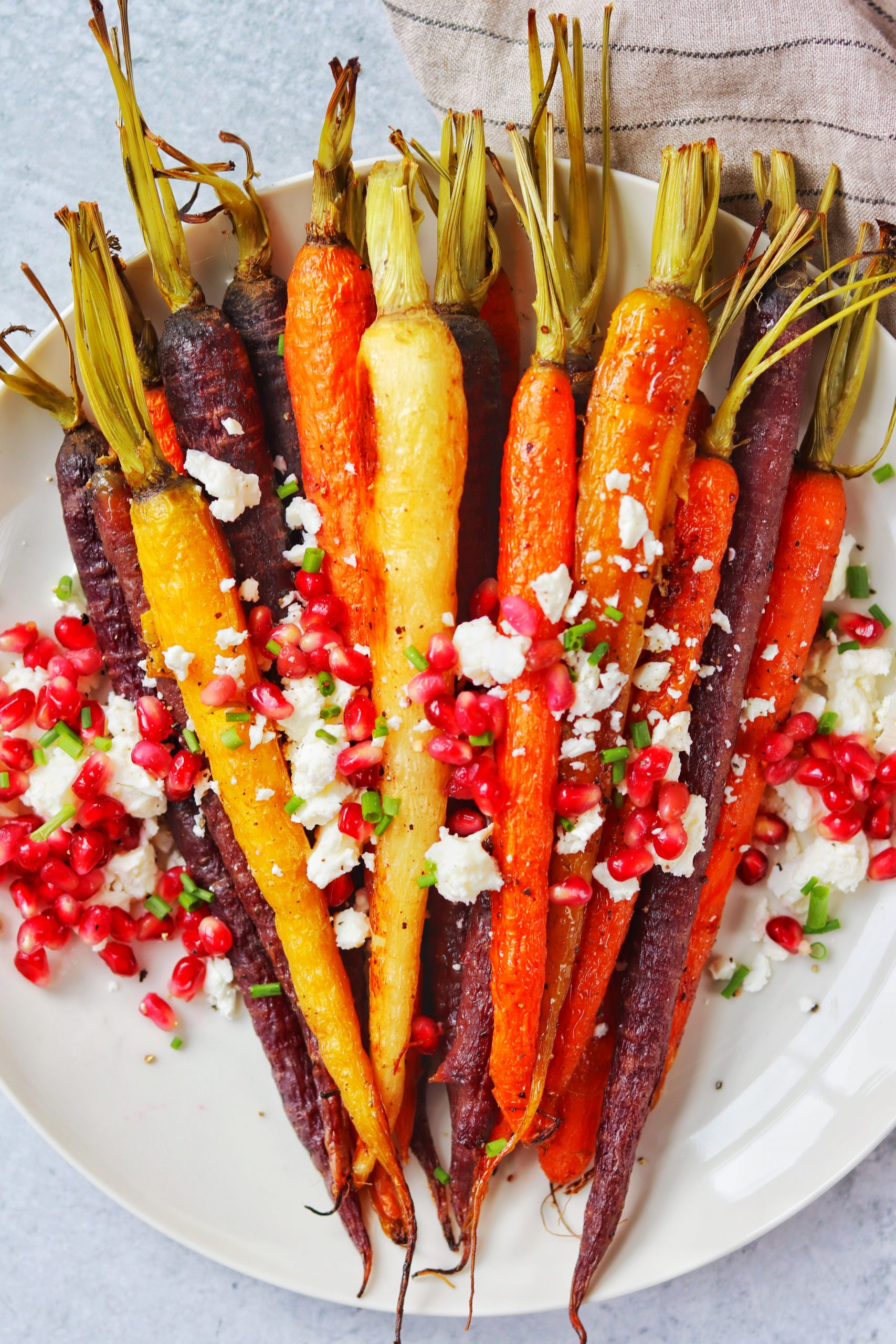Honey Roasted Carrots With Pomegranate And Feta Gluten Free Daisybeet