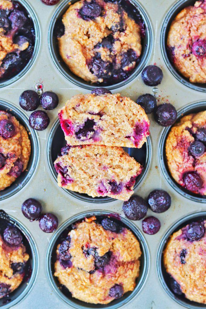Healthy Lemon Blueberry Muffins - Daisybeet