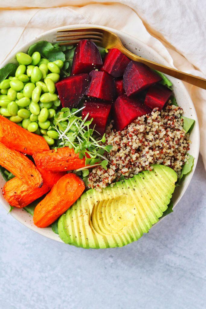 Quinoa, Avocado, and Roasted Vegetable Salad - Daisybeet