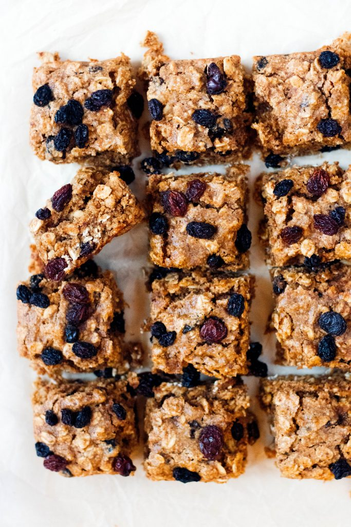 Soft Almond Butter Oatmeal Raisin Bars - 20 Amazing Vegan Cookie, Brownie, and Bar Recipes  - Daisybeet