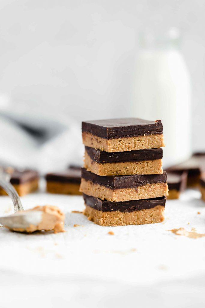 Peanut Butter Chocolate Bars - Broma Bakery via Daisybeet