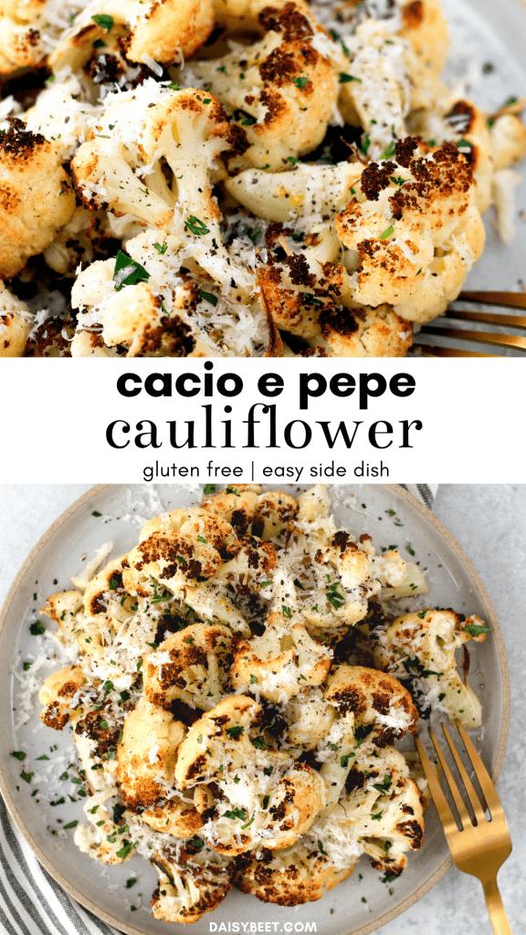 Cacio e Pepe Cauliflower - Daisybeet