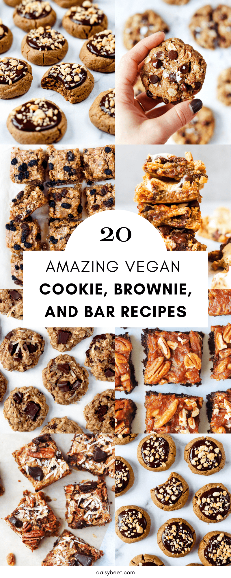 20 Amazing Vegan Cookie, Brownie, and Bar Recipes - Daisybeet