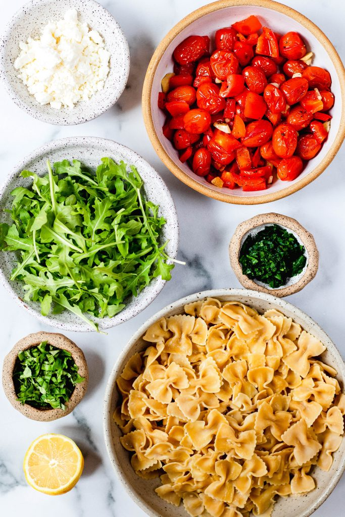 Roasted Pepper and Tomato Pasta Ingredients - Daisybeet