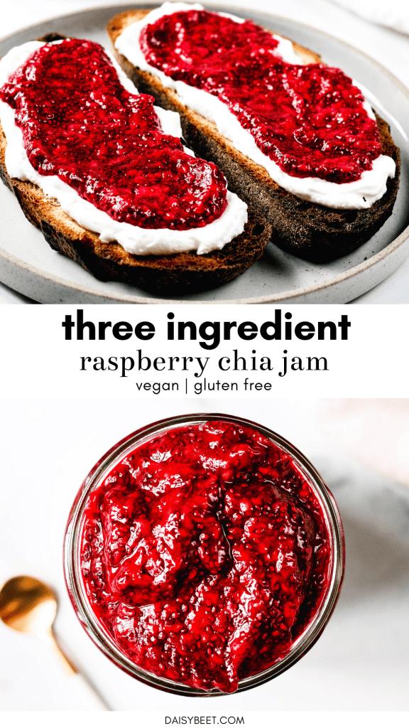 Raspberry Chia Jam - Daisybeet