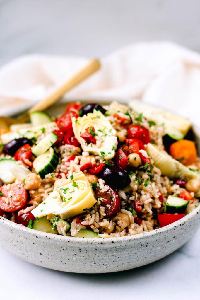 Mediterranean Brown Rice Salad - Daisybeet