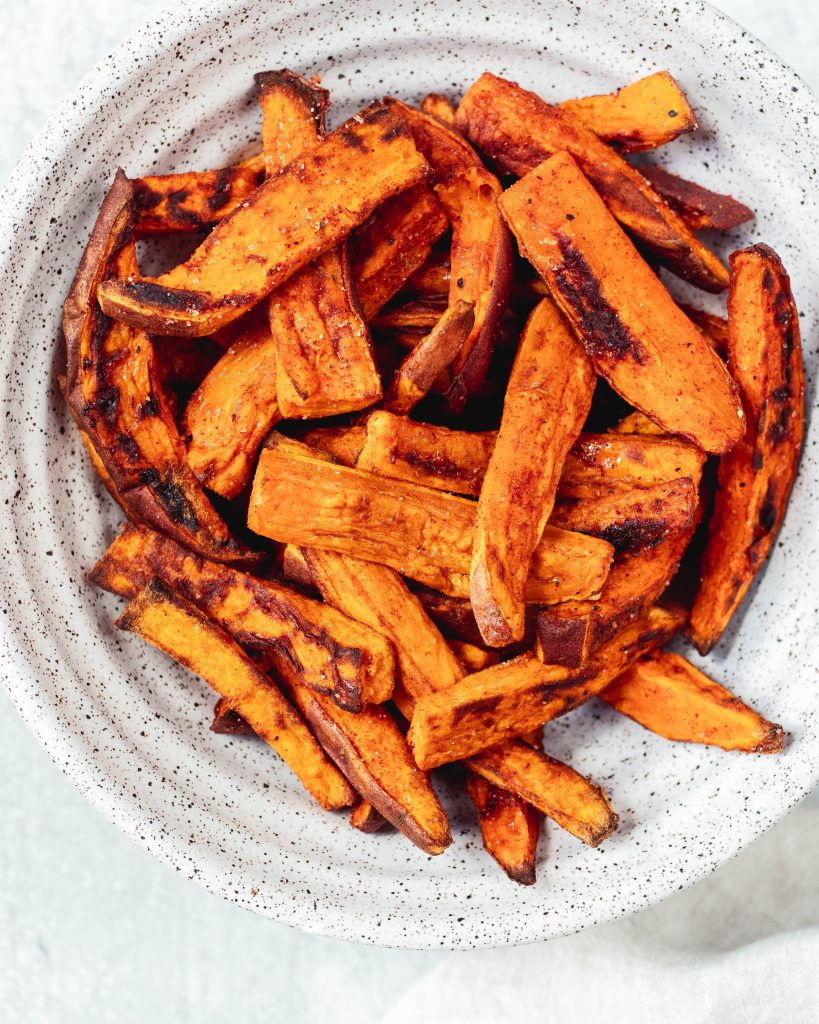 Sweet and Smoky Baked Sweet Potato Fries - Daisybeet
