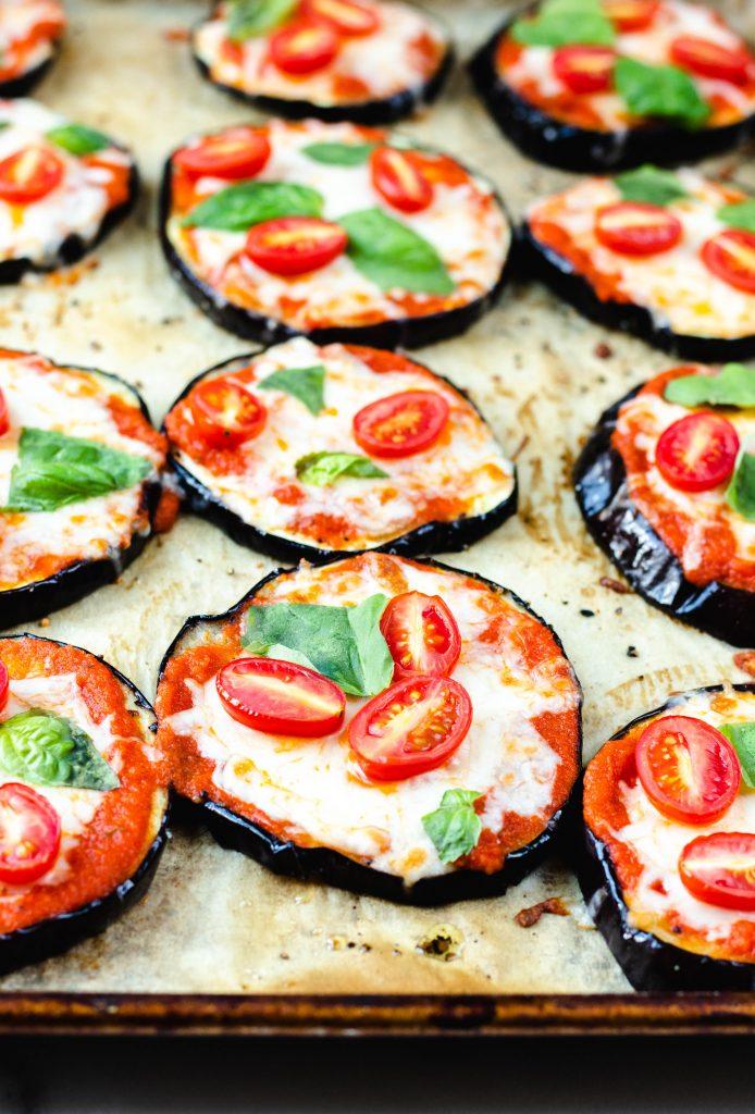 Margarita Eggplant Pizzas - Daisybeet