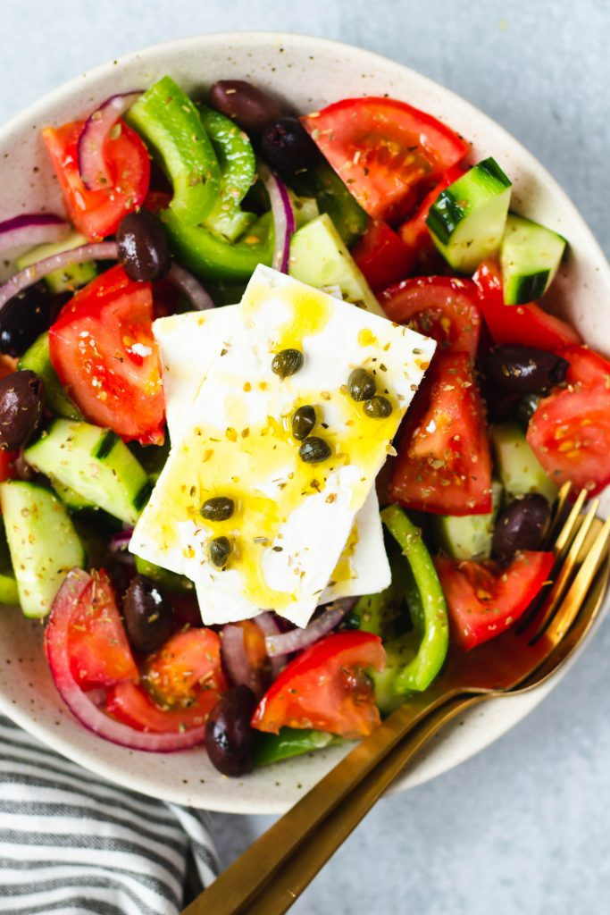 Authentic Greek Horiatiki Salad - Daisybeet