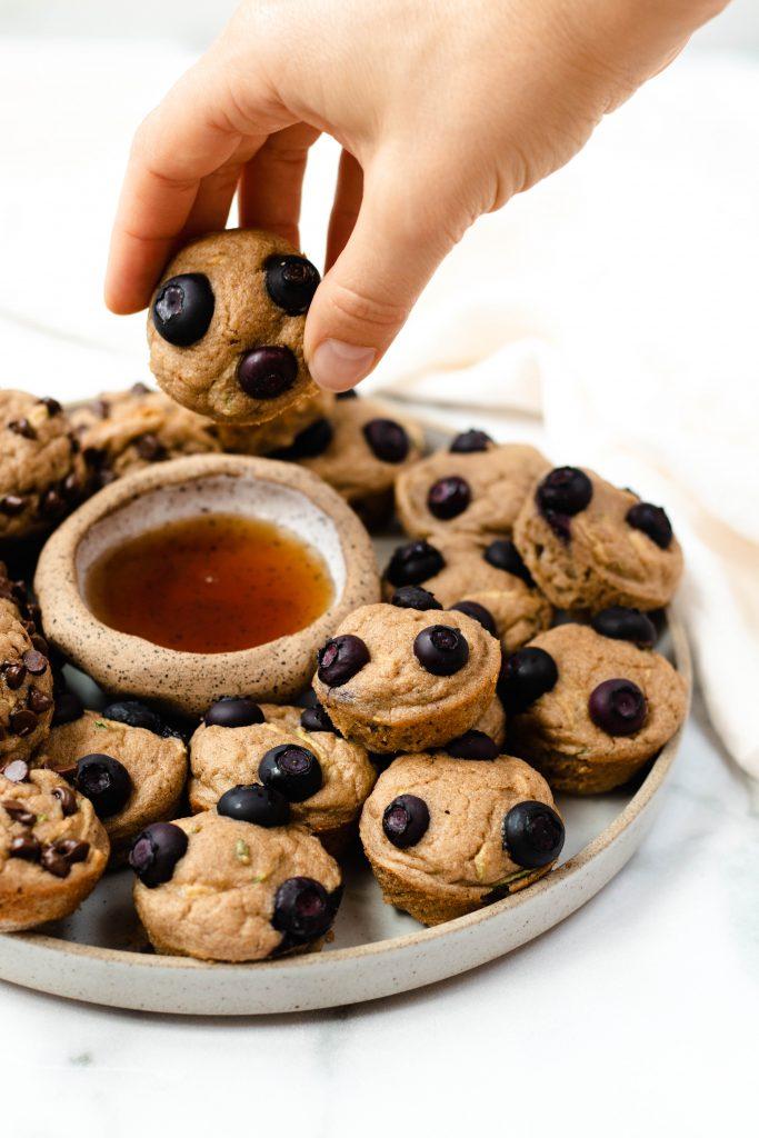 Zucchini Bread Pancake Mini Muffins - Daisybeet