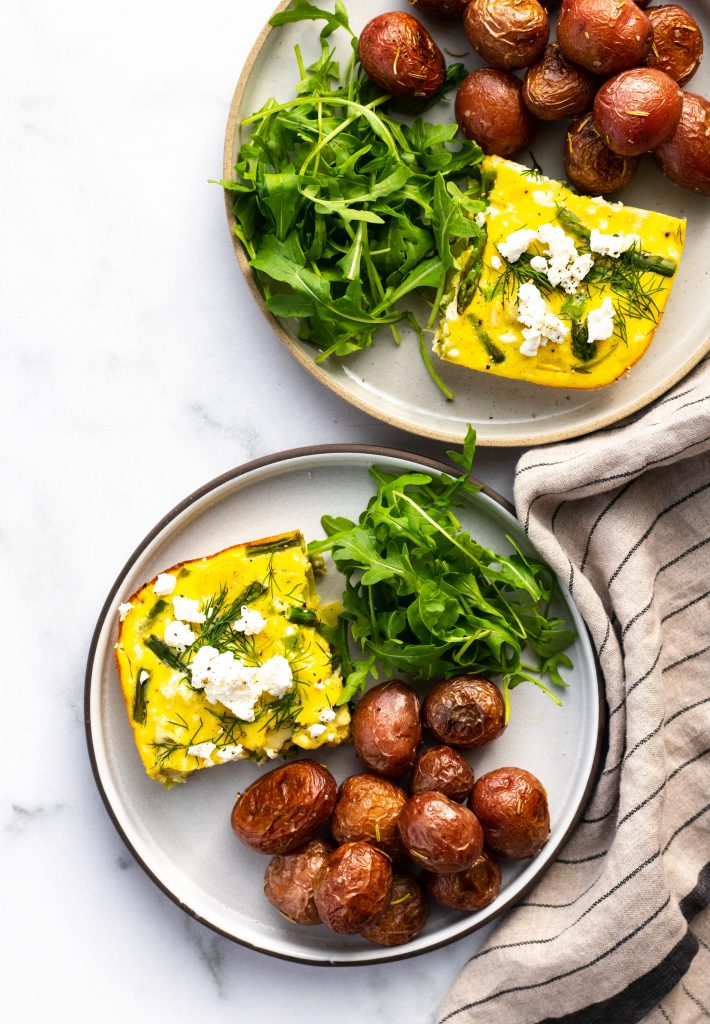 Asparagus and Leek Frittata with Goat Cheese | Daisybeet, Alex Aldeborgh, MS, RD