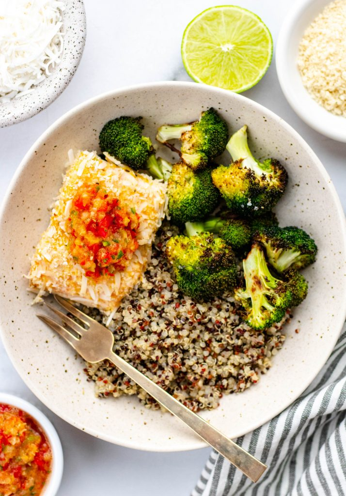 Coconut Crusted Salmon with Citrus Salsa | Daisybeet, MS, RD