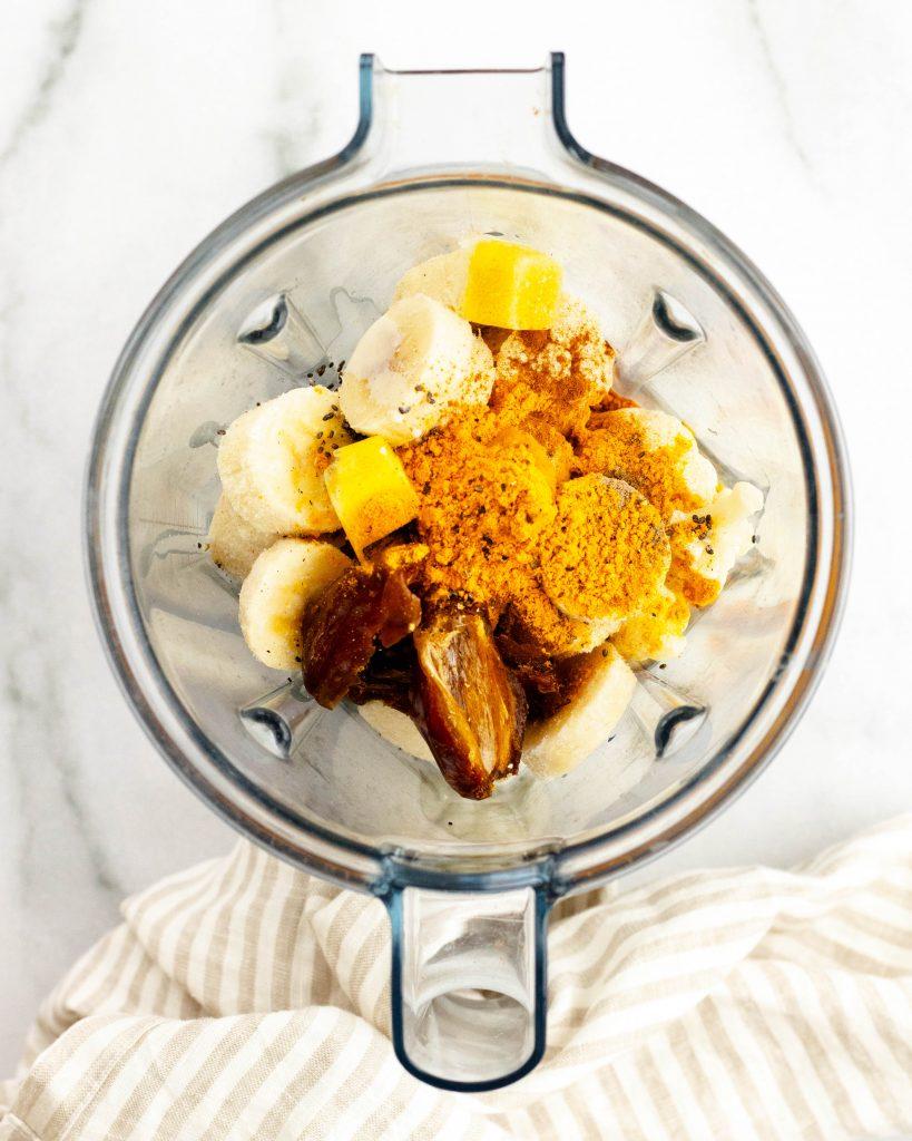 Golden Milk Smoothie (Vegan, Gluten Free)   Daisybeet, Alex Aldeborgh, MS, RD