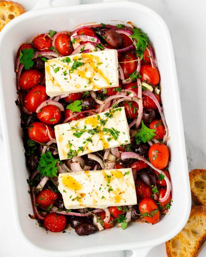 Mediterranean Baked Feta (Gluten Free)   Alex Aldeborgh, MS, RD
