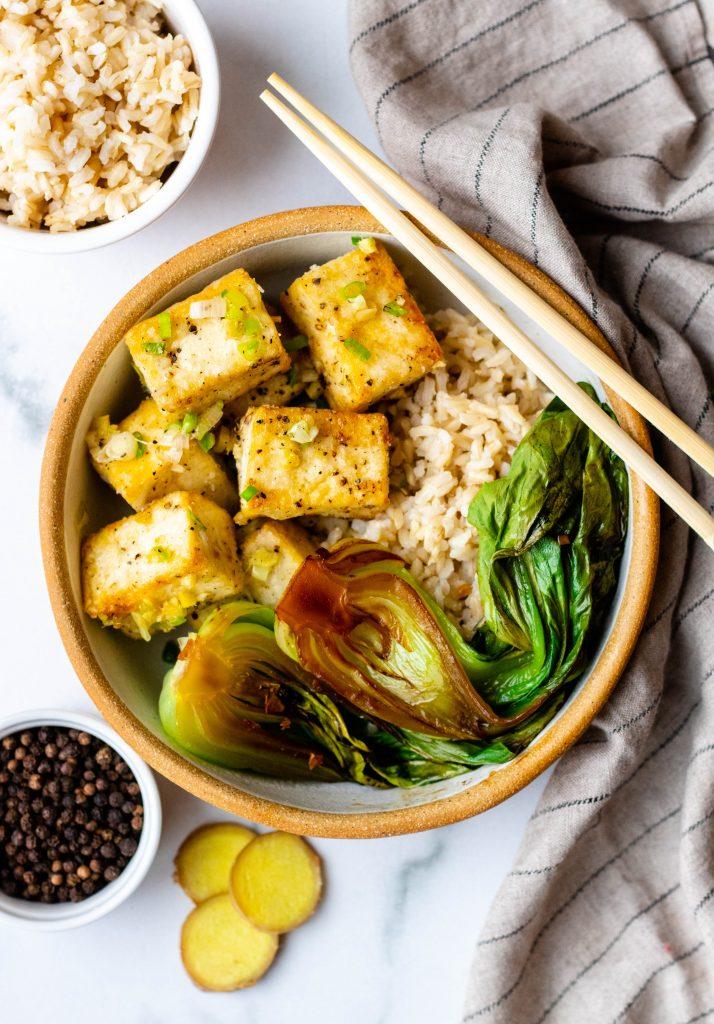 Crispy Salt and Pepper Tofu (Vegan, Gluten Free) | Daisybeet, MS, RD
