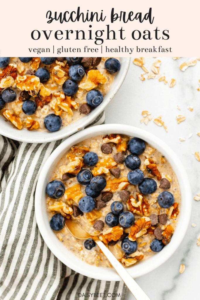 Zucchini Bread Overnight Oats | Daisybeet, Alex Aldeborgh, MS, RD