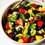 Summer fruit salad in a bowl